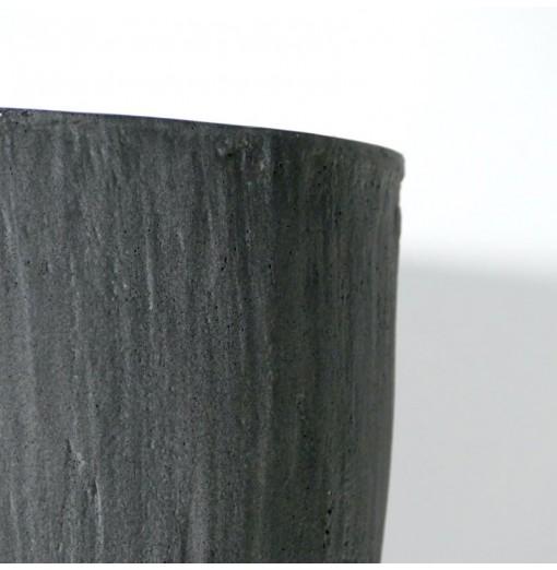 Vaso nero anticato in resina