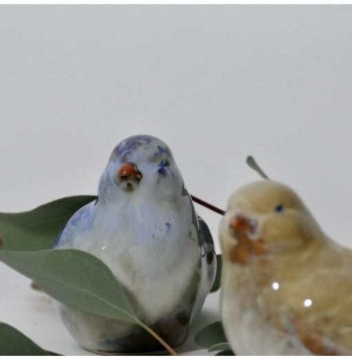 Uccellini in ceramica smaltata