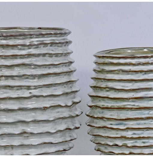 Vaso in ceramica smaltata