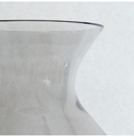 Vaso in vetro alto color fumo