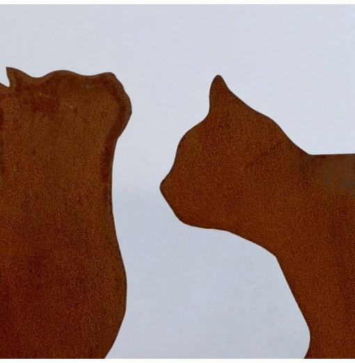Gatto in metallo arrugginito