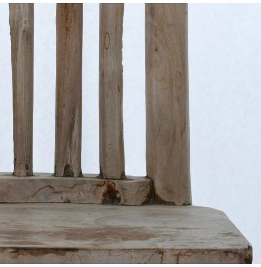 Sedia in teak scultorea
