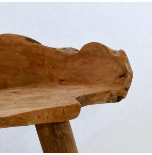 Panca in teak scultorea