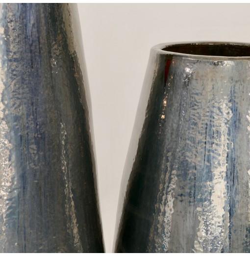Vaso nero/argento in...